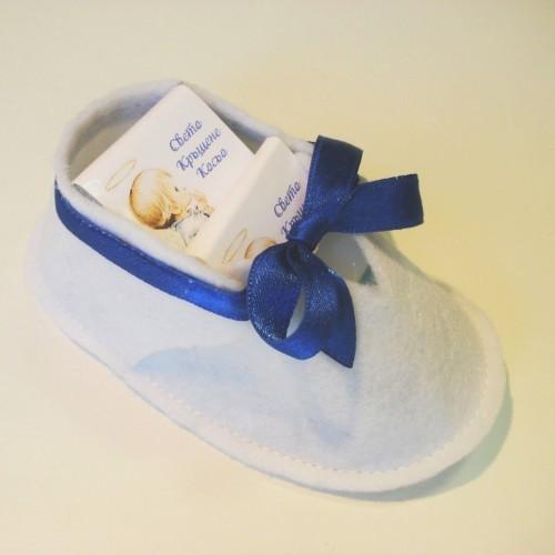 Бебешка обувка с мини шоколади – Очарователен подарък