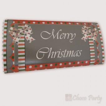 Шоколадова картичка  – Merry Christmas