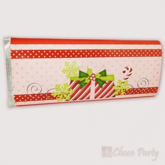 Шоколадова картичка – Цветна Коледа в розово