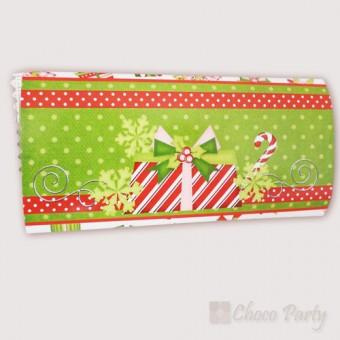 Шоколадова картичка – Цветна Коледа в зелено