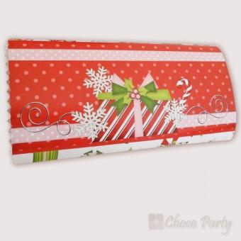 Шоколадова картичка – Цветна Коледа в червено