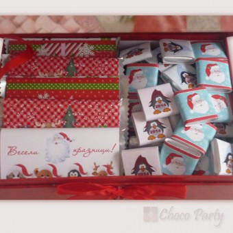 Празнична Коледна шоколадова аранжировка