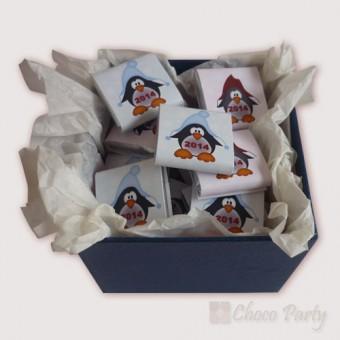 Коледна бонбониера – Веселите пингвини