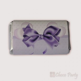 Шоколадова картичка в лилаво