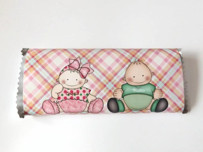 Шоколадова картичка за бебета и деца – Близнаци