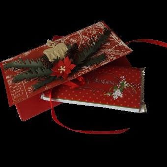 Коледна шоколадова картичка в плик-кутия