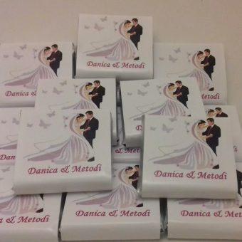 Сватбен мини шоколад – Романтично