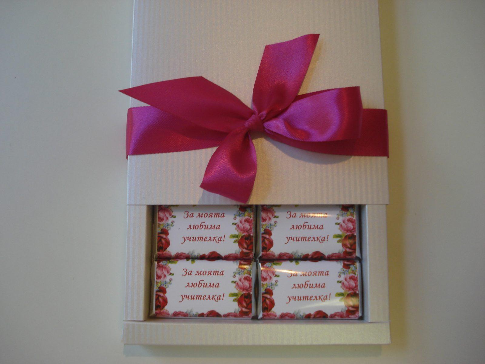 Бонбониера лукс Червено кадифе – Сладък празник