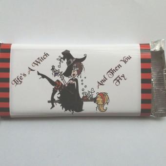 Шоколадова картичка за Хелоуин – Вещица