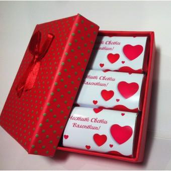 Мини шоколадова бонбониера с кюлчета – Св.Валентин!