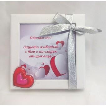Мини шоколадова бонбониера – Шоколадови сърца