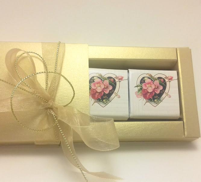 Елегантна бонбониера за подарък – Романтика