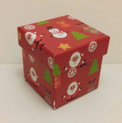 Коледна кутийка с 2 шоколадови късмета – Весели празници!