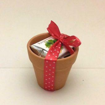 Подаръче – Саксийка с 2 шоколадови късмета
