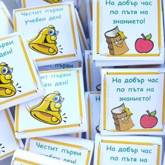 Комплект от 30 шоколадчета: Успех в училище!